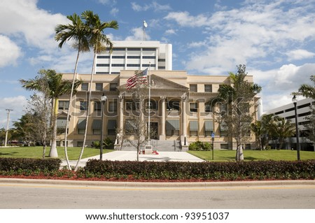 Historic Courthouse in West Palm Beach, Florida - stock photo