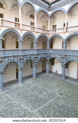 Historic Courtyard of the Alte Muenzeâ in Munich, Germany