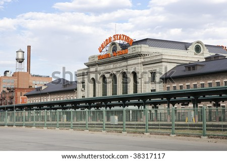Historic Denver Union Station - stock photo