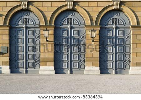 Historic doors of the museum of egyptian art in Munich Germany & Historic Doors Museum Egyptian Art Munich Stock Photo 83364394 ...