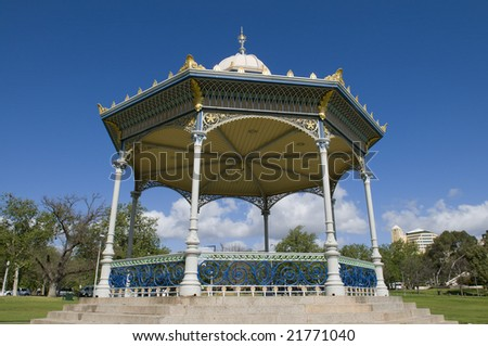 Historic Elder Park rotunda in Adelaide South Australia