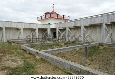 historic Fort Union Trading Post - stock photo