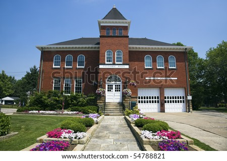 Historic Hall and Fire Station in Independence, Ohio