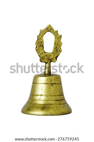 historic hand bell - stock photo