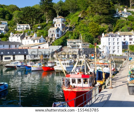 Historic Harbour at Polperro Cornwall England UK Europe