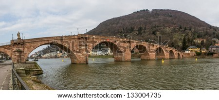 historic Heidelberg Neckar bridge