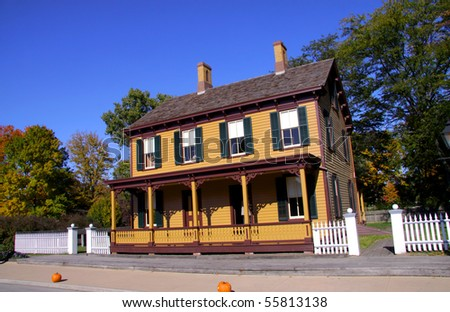 Historic home in greenfield village tourist attraction in Michigan - stock photo