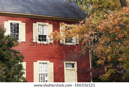 Historic House from XIX century in downtown of Frankfort, Kentucky - stock photo