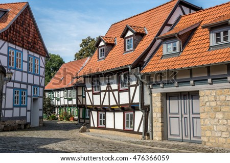 Historic houses in the Harz, Germany
