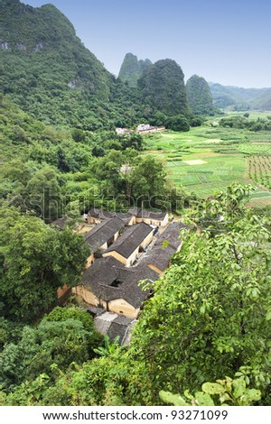 historic interest in china guilin yangshuo - stock photo