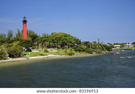 Historic Jupiter Inlet Lighthouse (1860) in Jupiter, Florida