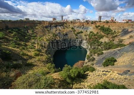 Historic Kimberly diamond mine world heritage site - stock photo