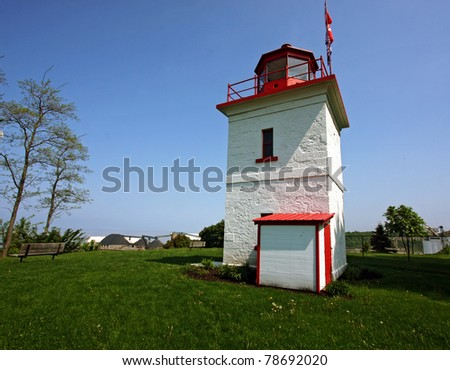 Historic Lighthouse in Goderich, Ontario - stock photo