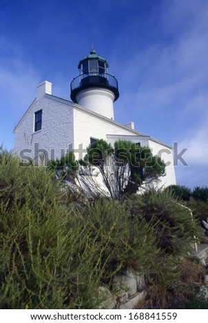 Historic Lighthouse in Point Loma, San Diego