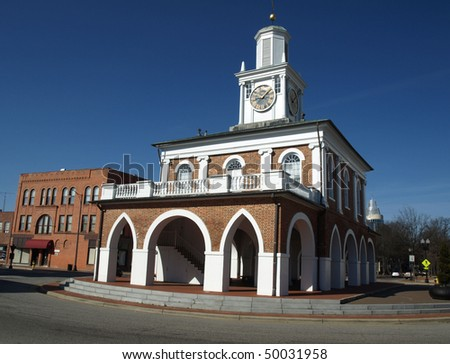 Historic market house in Fayetteville, North Carolina - stock photo