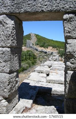 historic messini - greece - stock photo