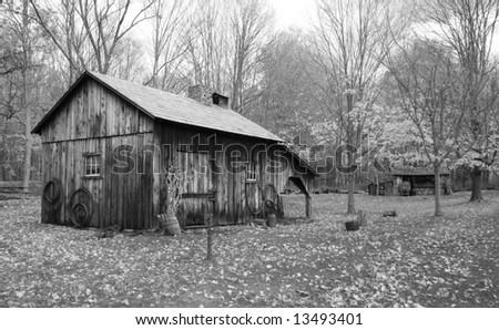 Historic Millbrook Village in Delaware water gap recreation area - stock photo