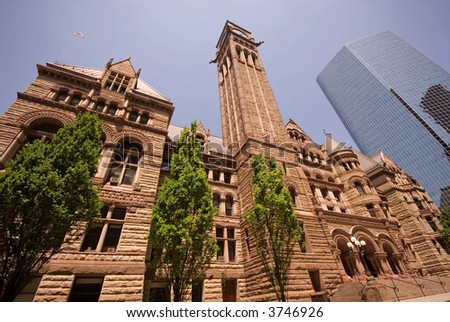 Historic Old City Hall, downtown Toronto, Ontario, Canada. - stock photo
