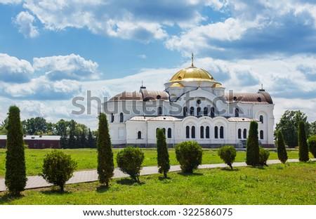 Historic Orthodox church in Brest, Belarus - stock photo