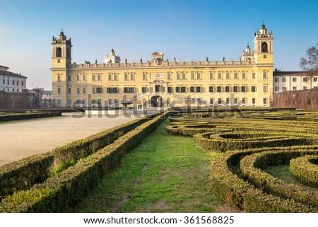Historic palace of Reggia di Colorno in sunny day, Colorno, Emila Romagna region, Italy. - stock photo