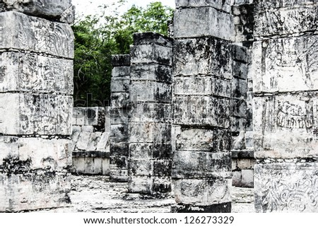 Historic place in Chichen Itza Mexico - stock photo