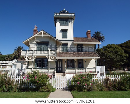 Historic Point Ferman Lighthouse in a City of Los Angeles Public Park.