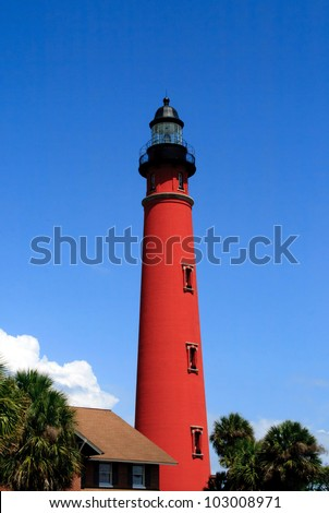 Historic Ponce De Leon Lighthouse, located in central Florida, near Port Orange and Daytona Beach