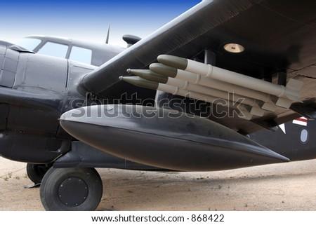 Historic Propeller plane - stock photo