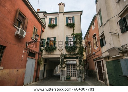 Historic quartier of Chioggia city