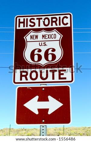 Historic Route 66 - stock photo