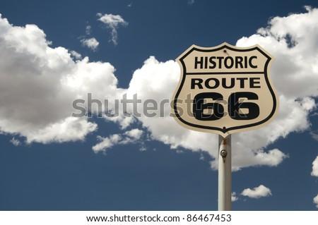historic Route 66 sign, Arizona, USA - stock photo