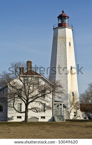 Historic Sandy Hook Lighthouse in New Jersey