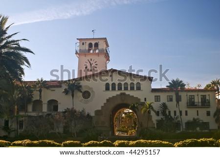 Historic Santa Barbara County Courthouse - stock photo