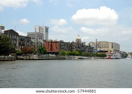 Historic Savannah Georgia - stock photo
