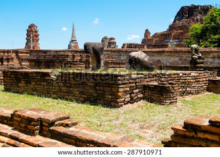 Historic sites Ayuthaya Thailand