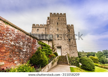 Historic Sizergh Castle and Garden is a stately home and garden at Helsington in the English county of Cumbria. - stock photo