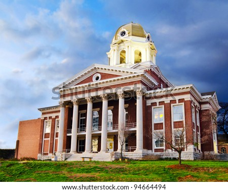 Historic small town city hall or courthouse in Cartersville, Georgia - stock photo