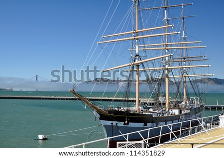 historic square-rigger Balclutha - stock photo
