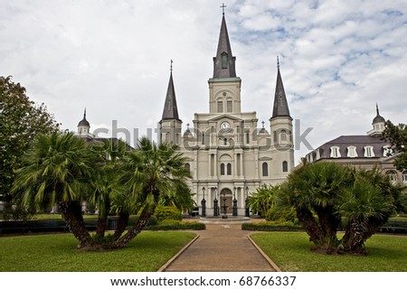 Historic St. Louis Cathedral - stock photo