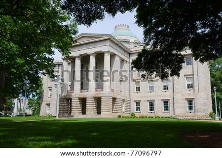 Historic state Capitol in Raleigh, NC - stock photo