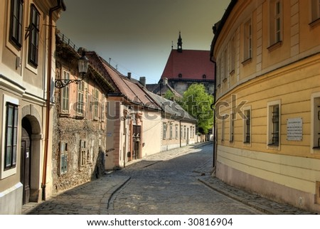 Historic street in old part of town