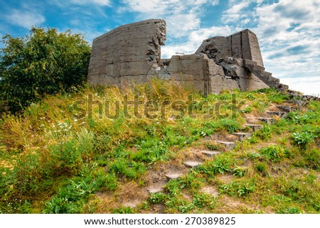 Historic Suomenlinna, Sveaborg maritime fortress In Helsinki, Finland. Sunny Day With Blue Sky. UNESCO World Heritage Site - stock photo