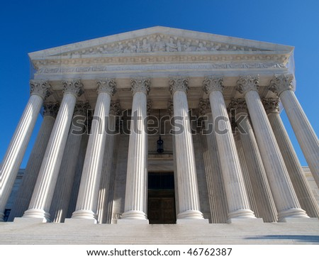 Historic Supreme Court building in Washington DC. - stock photo