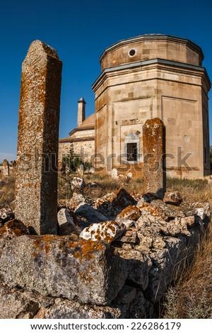 Historic Tomb called Uryan Baba at Seyitgazi Turkey from Ottoman Era - stock photo