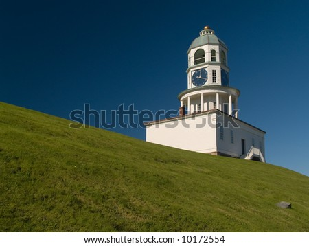 Historic Town Clock on Citadel Hill in Halifax NS. - stock photo