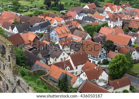 Historic Town Muenzenberg Hessen Germany Stock Photo - Hessen germany