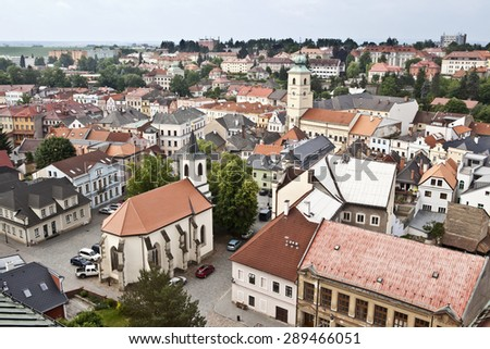 Historic town of Litomysl, Czech Republic - stock photo