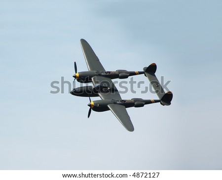 Historic turboprop military aircraft in the air