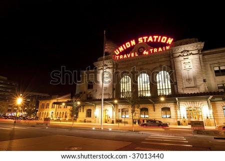 Historic Union Station in Denver - stock photo