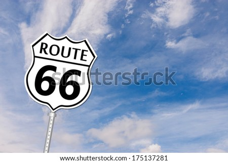 Historic US Route 66 Road Sign  - stock photo
